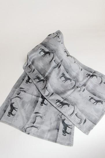 Schal Jacquard grau