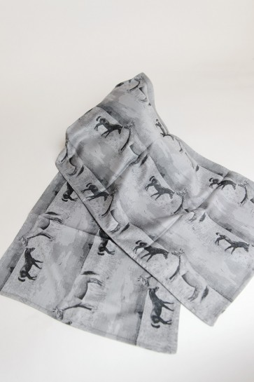 Jacquard scarf grey