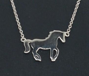 Halskette Pferd Silber