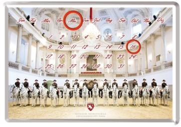 Blechpostkarten-Kalender Lipizzaner