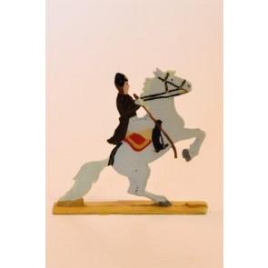 Zinnfigur Pferd mini bunt Courbette