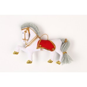 Christmasdecoration White Cloth Horse